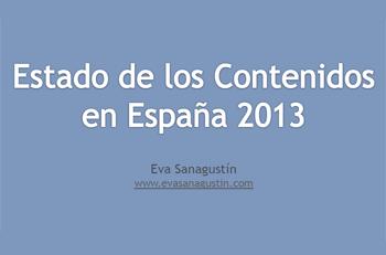 Estado de los contenidos en España 2013