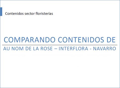 Comparativa de sectores: las floristerías Au Nom De La Rose, Interflora y Flores Navarro