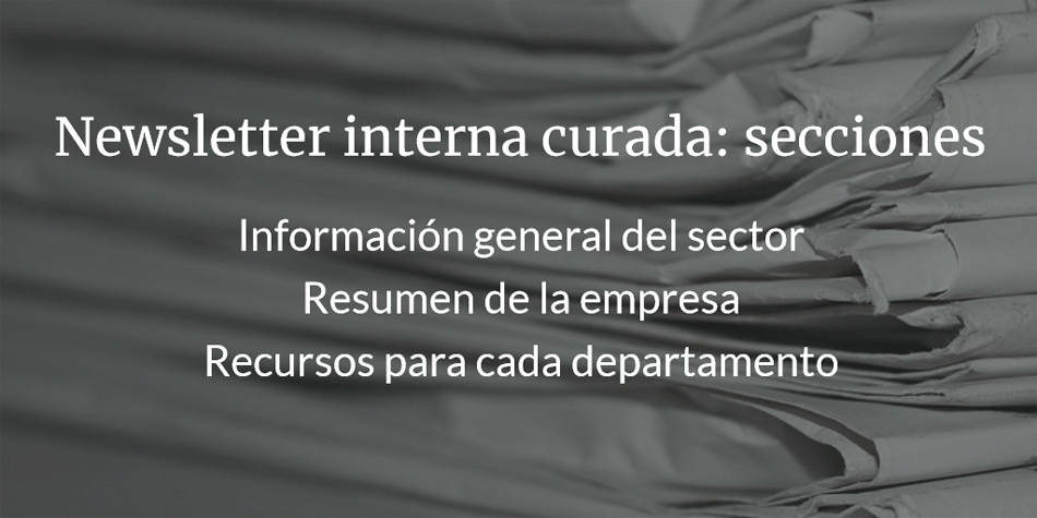 Newsletter Interna con Content Curation